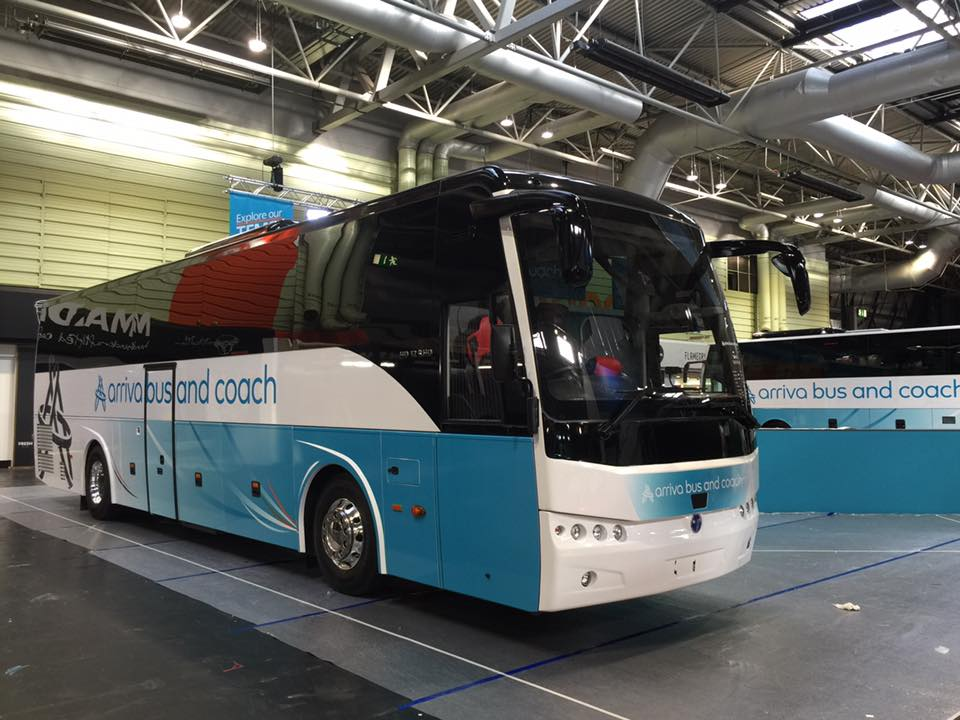 Arriva bus and coach show vehicle at the NEC