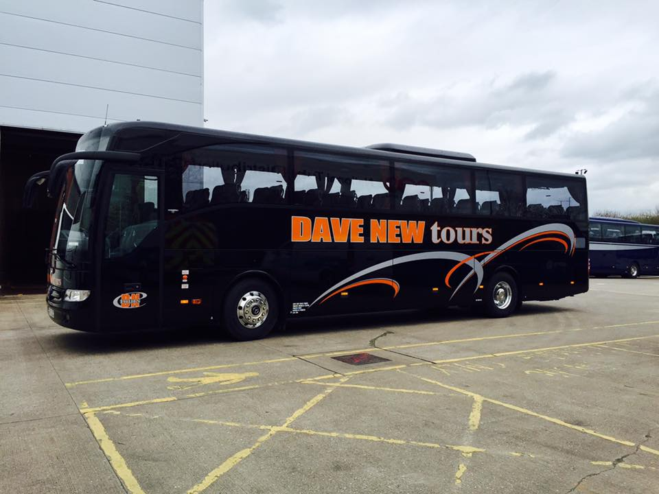 Dave New coach graphics with silver and orange