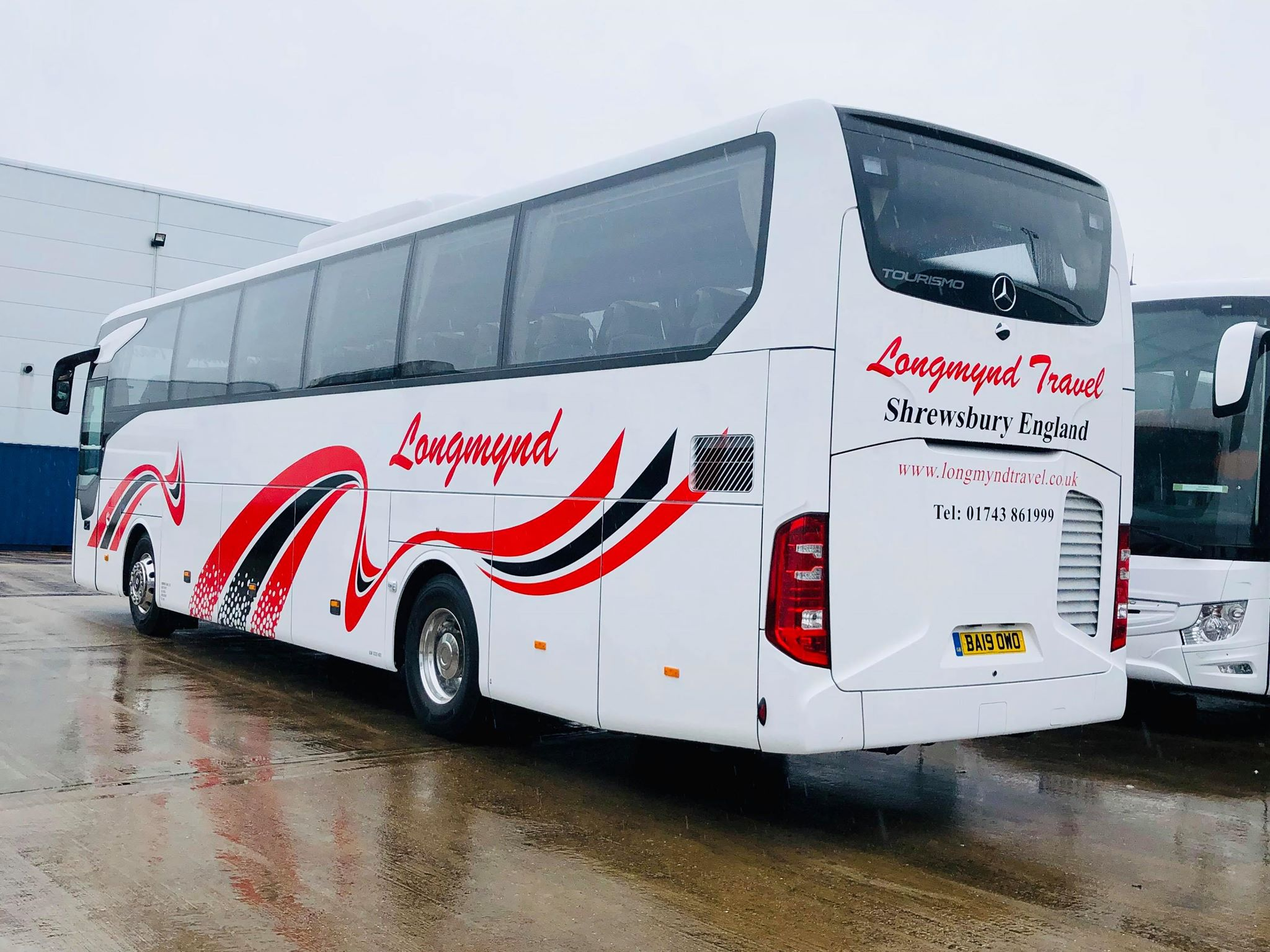 Longmynd Red and Black coach graphics
