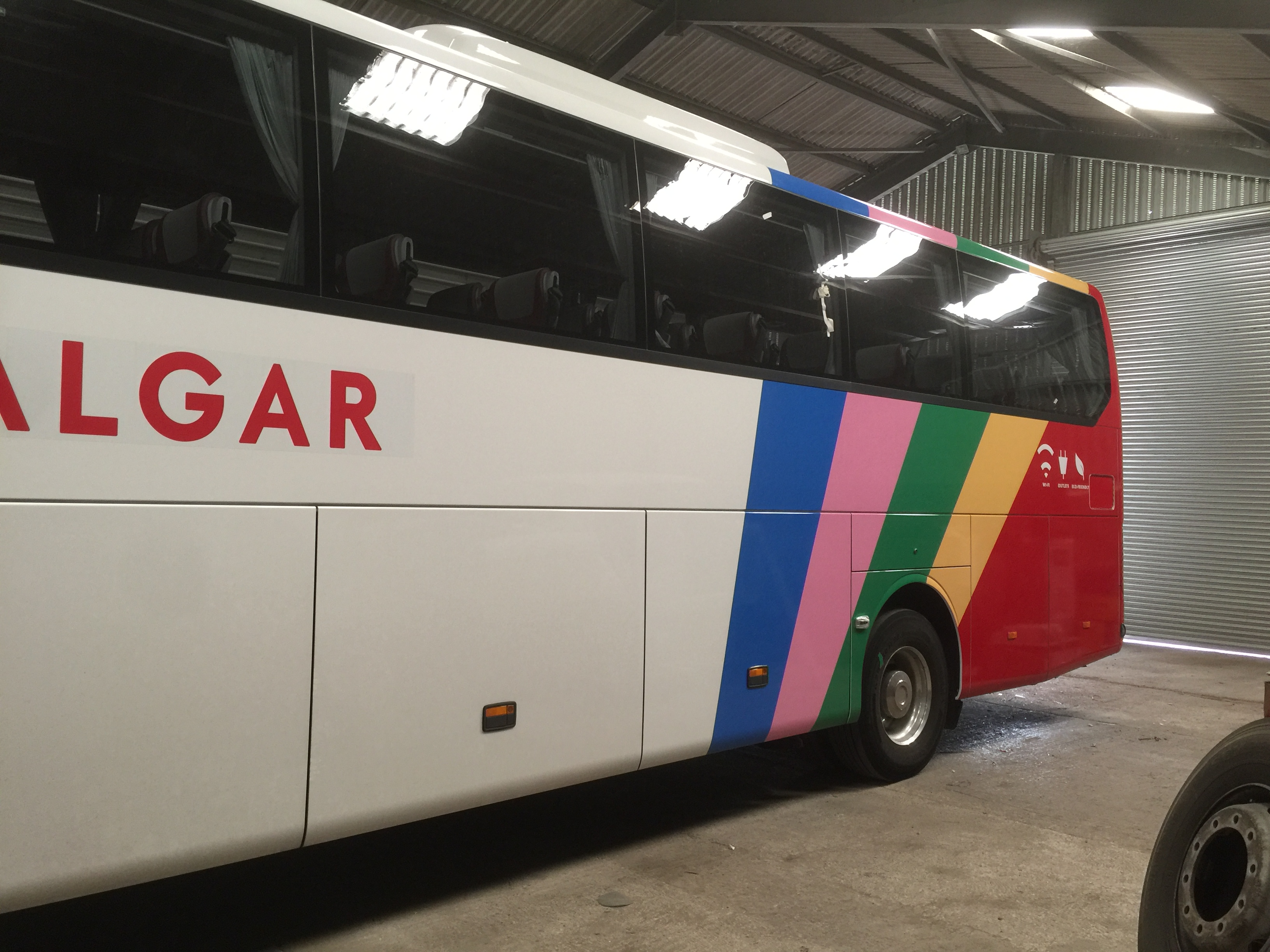 Trafalgar Coach wrap and graphics