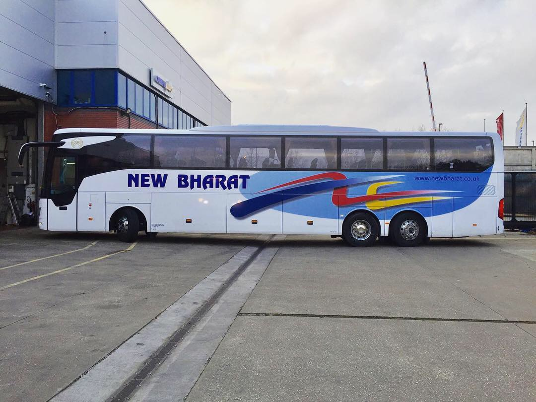 New Bharat Printed design with overlaid lettering coach graphics
